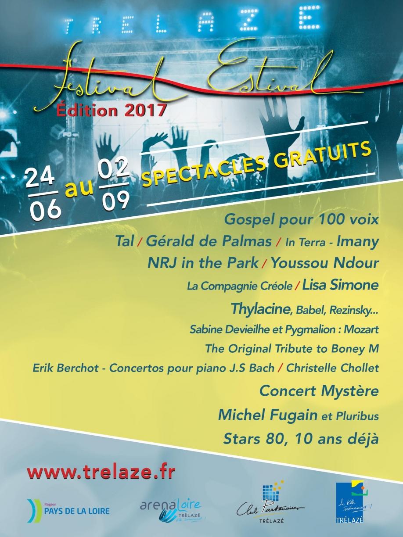 le festival estival 2017 de tr u00e9laz u00e9 est lanc u00e9
